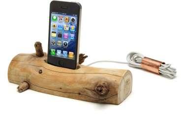 แท่นชาร์ต iPhone จากท่อนไม้ที่เก็บได้ตามชายหาด..นี่ล่ะ Organic Minimalism 28 - iPhone