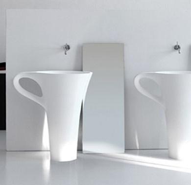 อ่างน้ำโมเดิร์น 10 แบบ ที่จะทำให้ห้องน้ำกลายเป็นจุดสดุดสายตา 16 - bathroom