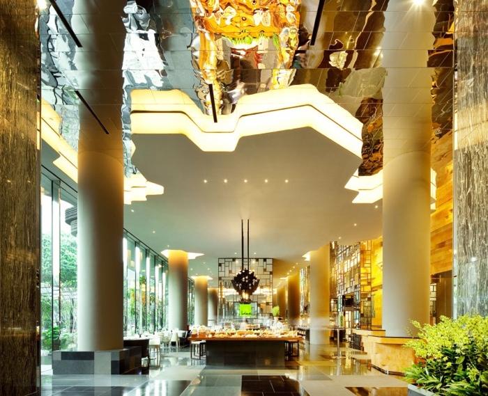 25560523 182438 สวนลอยฟ้า และรูปฟอร์มสวยงาม ที่ PARKROYAL Hotel สิงคโปร์