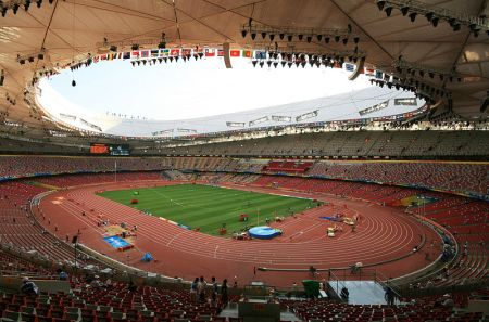 Beijing National Stadium Interior 450x297 สนามกีฬา Beijing National Stadium, Beijing