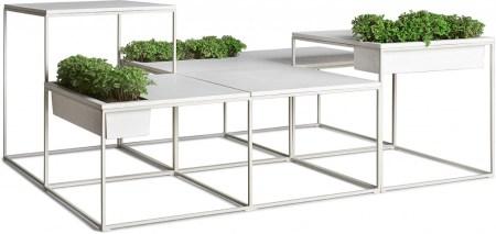 Kaja Set 012 450x213 Kaja by Kenneth Cobonpue โต๊ะสำหรับสร้างพื้นที่สีเขียว