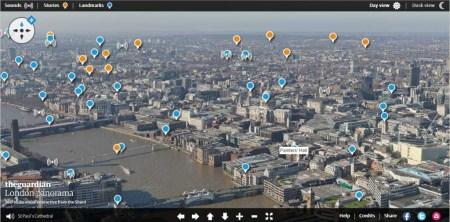 ShardPanorama 450x222 The view from the top of the Shard : London panorama of sights and sounds – interactive อยู่ที่ไหนก็มองเห็นทัศนียภาพของลอนดอน
