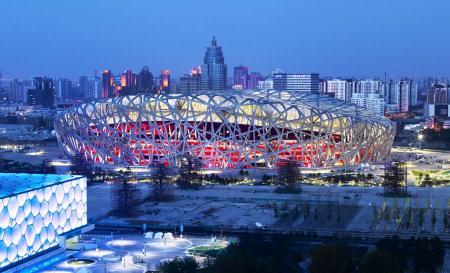 birds nest beijing arup080908 cmarcellam 450x273 สนามกีฬา Beijing National Stadium, Beijing
