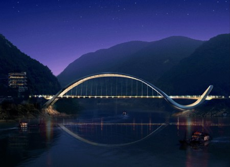 %name Chinas Dragon Inspired Eco Bridge สะพานแห่งนี้ดูมีสุนทรียะในความงดงามและมีประโยชน์ใช้สอย