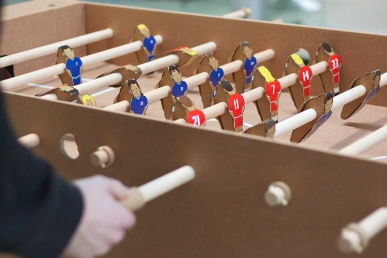 Foosball table from cardboard 26 - paper