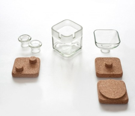 lucriMas 450x387 cork + glass desk accessories