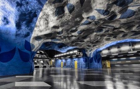 011 450x286 world's longest art exhibition @สต็อกโฮล์ม สถานีรถไฟใต้ดินที่ได้ชื่อว่า เป็นแกลเลอรี่ศิลปะที่ยาวที่สุดในโลก