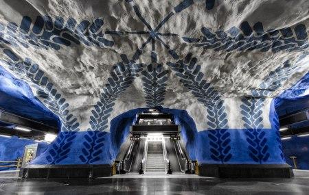04 450x285 world's longest art exhibition @สต็อกโฮล์ม สถานีรถไฟใต้ดินที่ได้ชื่อว่า เป็นแกลเลอรี่ศิลปะที่ยาวที่สุดในโลก