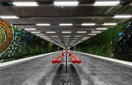 06 450x289 world's longest art exhibition @สต็อกโฮล์ม สถานีรถไฟใต้ดินที่ได้ชื่อว่า เป็นแกลเลอรี่ศิลปะที่ยาวที่สุดในโลก