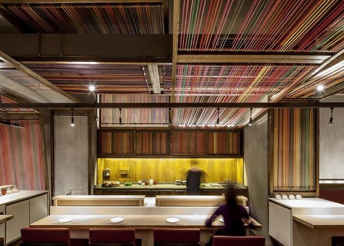 25560620 183827 Peru Pakta  ร้านอาหารที่รวม 2 วัฒนธรรมเข้าเป็น 1..เมื่อหูกทอผ้าดั้งเดิมของเปรูหุ้มห่อเฟอร์นิเจอร์สไตล์ญี่ปุ่น