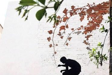 ภาพวาดจากลอยแตกบนกำแพง..Subtractive Street Art โดย Pejac 25 - street art