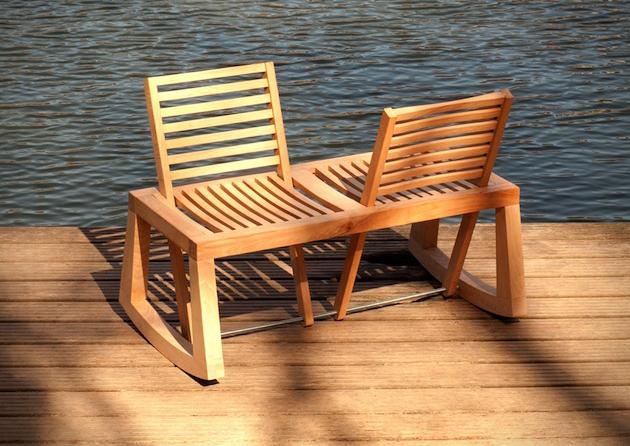 Flexible Design of The Double View Bench 1 DOUBLE VIEW BENCH ..ม้านั่งปรับนั่งได้ 2 ด้าน