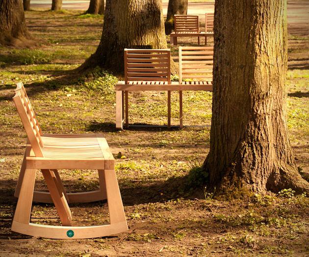 Flexible Design of The Double View Bench 2 DOUBLE VIEW BENCH ..ม้านั่งปรับนั่งได้ 2 ด้าน