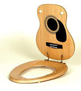 guitarletnat Jammin Johns Toilet Seats ดนตรีกับดีไซน์ฝารองนั่งและฝาปิดชักโครก