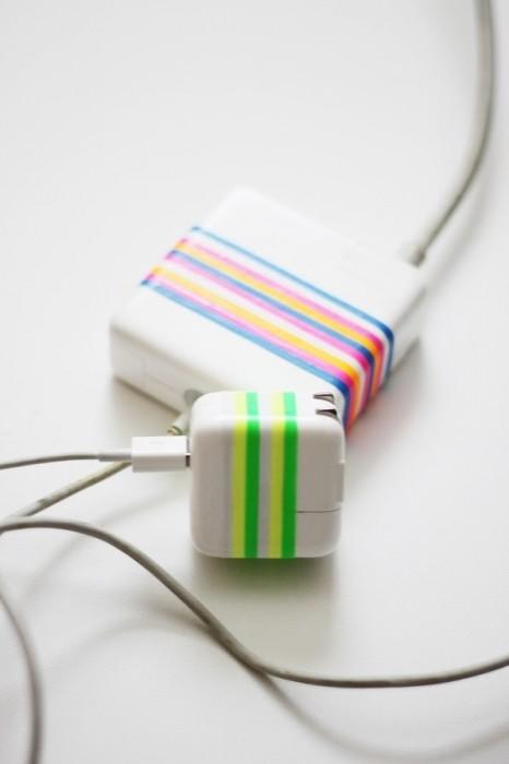 25560706 122940 DIY ใช้หนังยางสีสันสดใส สร้างความแตกต่างให้กับหัวปลั๊กชาร์ตแบต