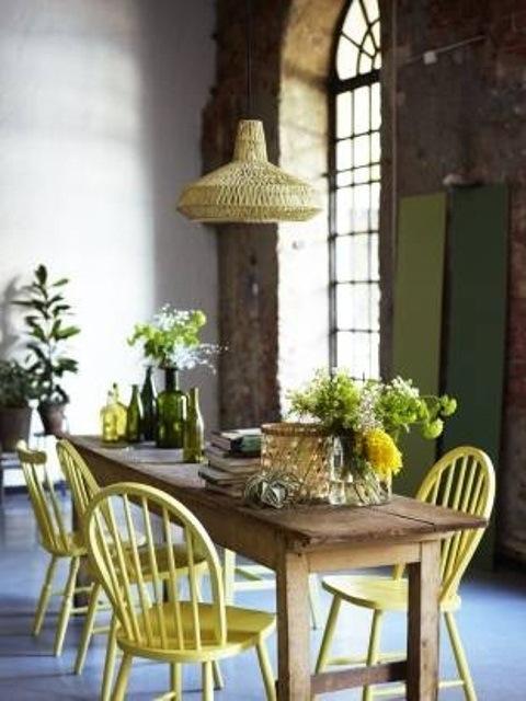 25560710 085234 ไอเดียแต่งห้องครัวด้วยสีเขียว เหลือง 30 แบบ