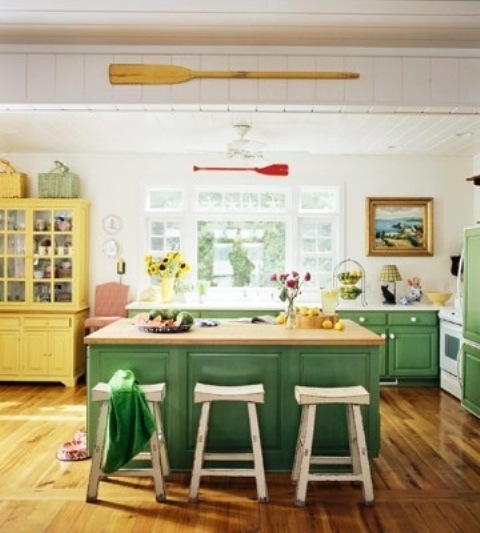 25560710 085324 ไอเดียแต่งห้องครัวด้วยสีเขียว เหลือง 30 แบบ