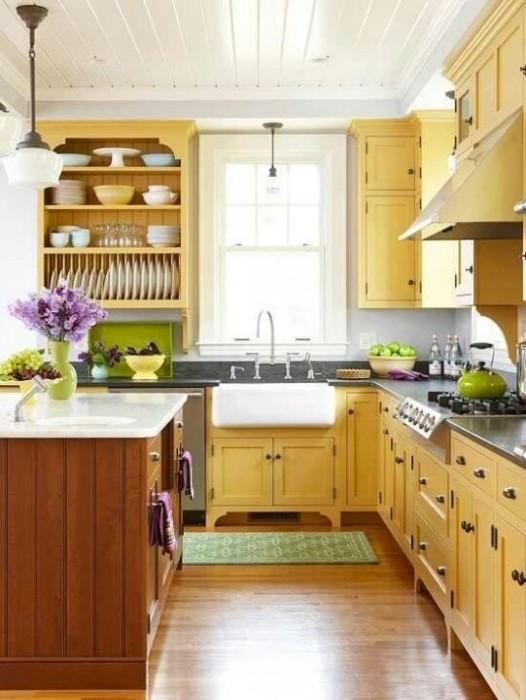 25560710 085609 ไอเดียแต่งห้องครัวด้วยสีเขียว เหลือง 30 แบบ