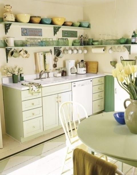 25560710 085647 ไอเดียแต่งห้องครัวด้วยสีเขียว เหลือง 30 แบบ