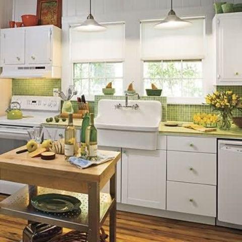 25560710 085658 ไอเดียแต่งห้องครัวด้วยสีเขียว เหลือง 30 แบบ