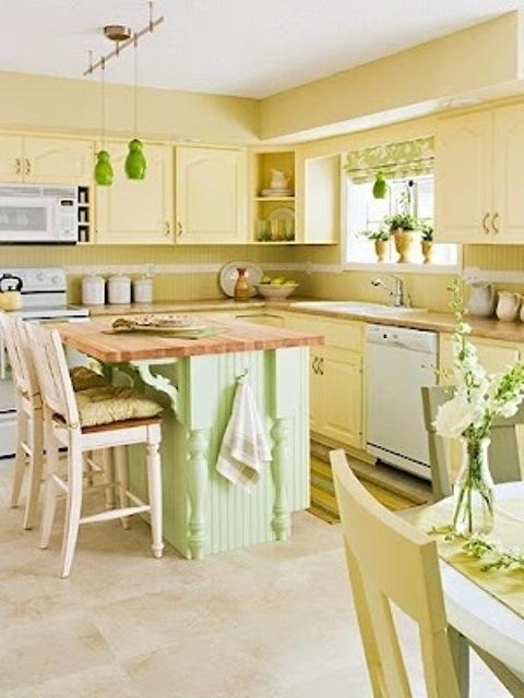 25560710 085711 ไอเดียแต่งห้องครัวด้วยสีเขียว เหลือง 30 แบบ