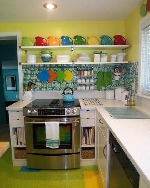 25560710 085727 ไอเดียแต่งห้องครัวด้วยสีเขียว เหลือง 30 แบบ