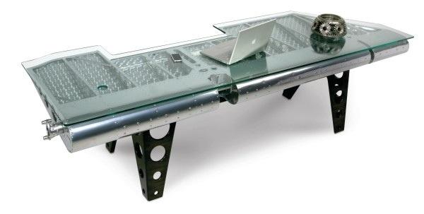 25560711 182723 โต๊ะที่ทำจากชิ้นส่วนเครื่องบินโบราณ...โดย MotoArt เพื่อคนรักเครื่องบินโดยเฉพาะ
