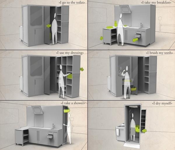 25560712 190134 Cook&Bath..กั้นห้องด้วยเฟอร์นิเจอร์สำเร็จรูป ที่เป็นห้องน้ำและครัวไปด้วย