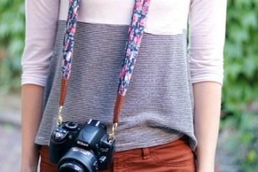 DIY: ทำสายกล้องจากผ้าพันคอ 30 - DIY