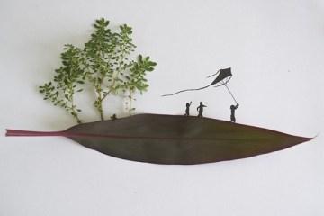 Little Leaf World..ศิลป ใช้ใบไม้ มาประกอบภาพ 4 -