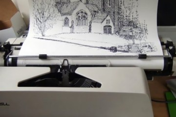 Typewriter Art ศิลปะจากพิมพ์ดีด 14 - Art & Design