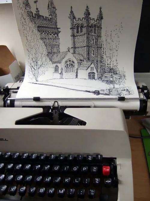 Keira Rathbones Typewriter Art 1 Typewriter Art ศิลปะจากพิมพ์ดีด