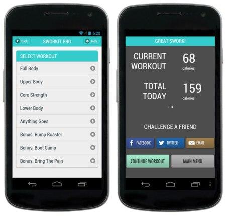 Sworkit Android 450x431 ออกกำลังได้แม้เวลาสั้นๆกับ app,Sworkit