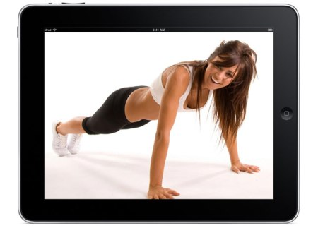 Sworkit iPad Woman BritCo 450x323 ออกกำลังได้แม้เวลาสั้นๆกับ app,Sworkit