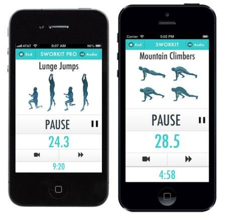 Sworkit iPhone 450x431 ออกกำลังได้แม้เวลาสั้นๆกับ app,Sworkit