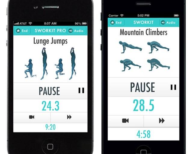 ออกกำลังได้แม้เวลาสั้นๆกับ app,Sworkit  20 - Android