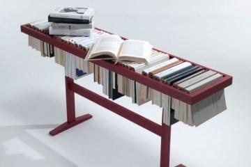 Raw edges: Booken for LEMA รางวางหนังสือที่เป็นที่เก็บหนังสือและที่คั่นหนังสือในเวลาเดียวกัน 2 - LEMA