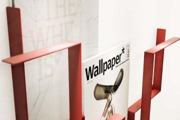 Wall Magazine Holder Guidelines ชั้นวางหนังสือสไตล์เรียบง่าย Minimalist 2 - FREDERIK ROIJÉ