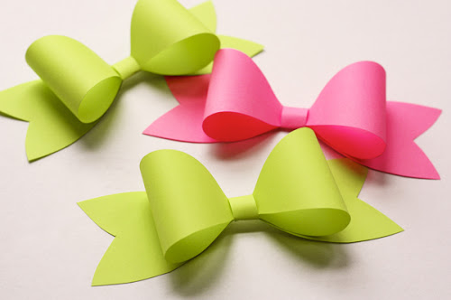 paper bow template DIY.Paper bow ติดเก๋ๆบนกล่องของขวัญ