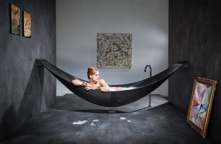 น่านอน...อ่างอาบน้ำหรือเปลกันแน่ carbon fibre bathtub  18 - bathroom