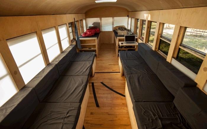 เมื่อนักศึกษาสถาปัตย์เปลี่ยนรถโรงเรียนเก่า เป็นบ้านเคลื่อนที่ เดินทางไปทั่วสหรัฐอเมริกา 13 - รีไซเคิล