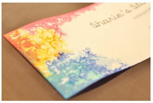 bb5 DIY. Tie Dyed Business Cards