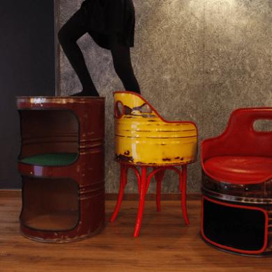 Barrel Furniture เฟอร์นิเจอร์จากถังน้ำมันที่ไม่ได้ใช้งานแล้ว 15 - Barrel