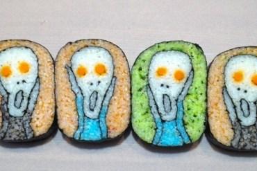 เมื่อเชฟญี่ปุ่นสร้างภาพบน Sushi Rolls 32 - อาหาร