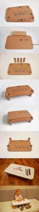 25561014 145338 DIY โต๊ะสำหรับเด็กจากกระดาษกล่องรีไซเคิล
