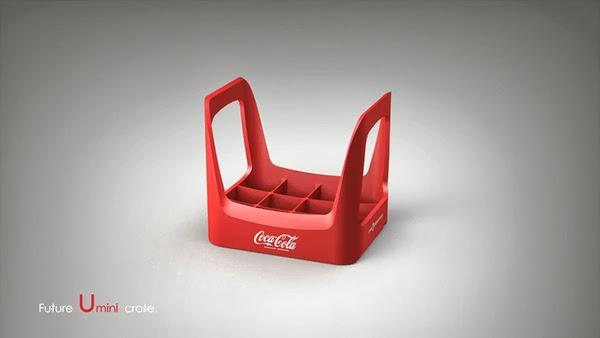 Coke future crate 04 Coca cola  Eco Bottle Containers
