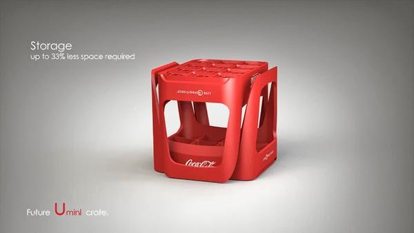 Coke future crate 08 Coca cola  Eco Bottle Containers