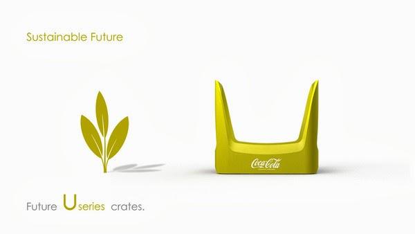 Coke future crate 15 Coca cola  Eco Bottle Containers