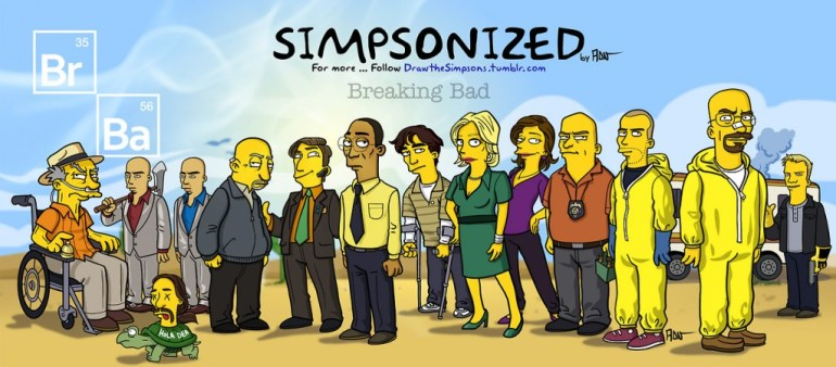Breaking bad characters illustrated like the simpsons 13 - Breaking bad
