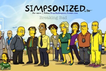 Breaking bad characters illustrated like the simpsons 13 - Simpson